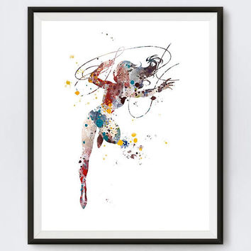 Wonder Woman Print, Amazon Warrior Princess, Superhero Art, Justice league Poster, Batman, Superman, DC Comics, Download, Gift, Wall Art