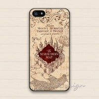 Harry Potter Marauders Map iPhone 5 Case,iPhone 5s Case,iPhone 4 4s Case,Samsung Galaxy S3 S4 Case, Hard Plastic Rubber Cover Skin Case