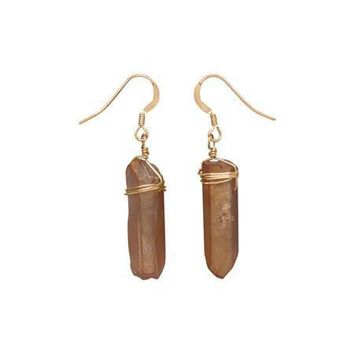 14/20 Gold Filled Earrings with Crystal Drops