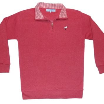 Crimson Fleece Pullover
