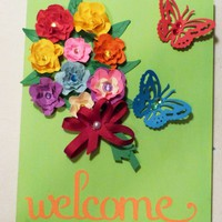 Welcome Wall Decor, Measures 8
