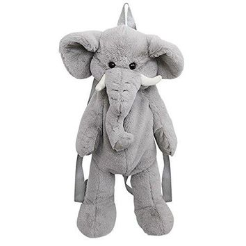 Wildlife Tree Kids 20 Inch Elephant Animal Backpack - Soft Stuffed Animal Small Plush Backpack