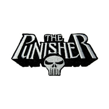 Punisher Text Logo Iron-On Patch