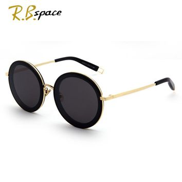 RBspace Trend new Round Metal Sunglasses Steampunk Men Women Fashion Glasses Brand Designer Retro Vintage Sunglasses UV400