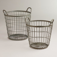 Zinc Jayden Wire Baskets - World Market