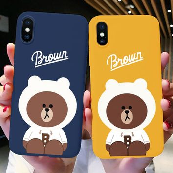 Brown Bear Silicone Phone Case