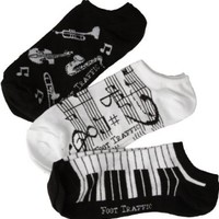 Women's Music Ankle Socks 3-Pack:Amazon:Clothing