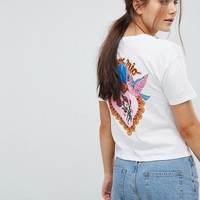 ASOS Cropped T-Shirt With Amore Mio Print at asos.com