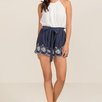 Carissa Floral Embroidery Soft Shorts