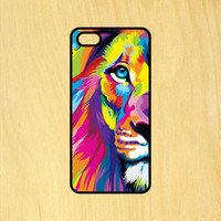 Half Lion Face Colorful Art Phone Case iPhone 4 / 4s / 5 / 5s / 5c /6 / 6s /6+ Apple Samsung Galaxy S3 / S4 / S5 / S6