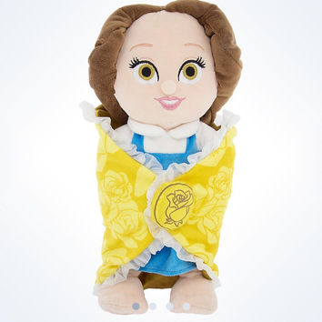 "disney parks 10"" baby blanket princess belle plush new with tags"