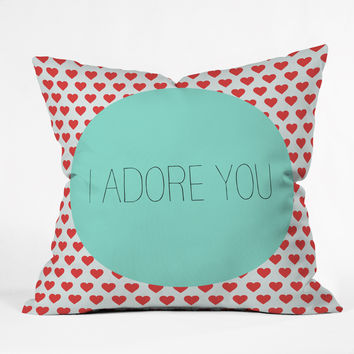 Allyson Johnson I Adore You Throw Pillow