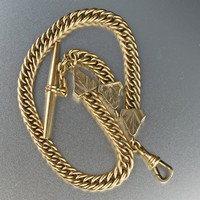 Vintage Victorian Pocket Watch Chain Bracelet 1800s