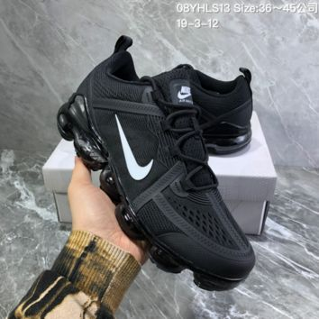 DCCK2 N890 Nike Air Vapormax 2019 mesh breathable Drop molding Running Shoes black White