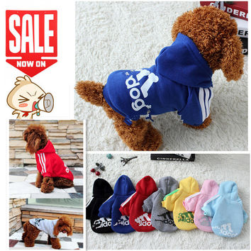 Pet Soft Cotton Autumn Clothes Hoodies for Dog, Puppy Products