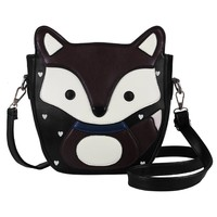 Ecosusi Women Cute Fox Design Soft Pu Leather Crossbody Bag Hobo Shoulder Bag Satchel