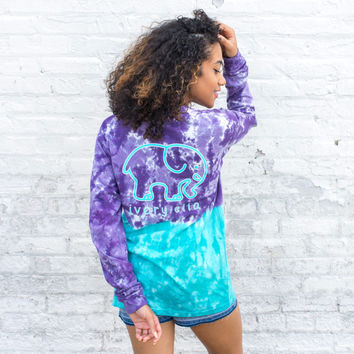 Classic Fit Turquoise & Purple Ombre Tee