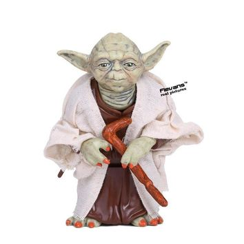 Star Wars Force Episode 1 2 3 4 5  Jedi Knight Master Yoda Resin Figure Collectible Model Toy 12cm AT_72_6