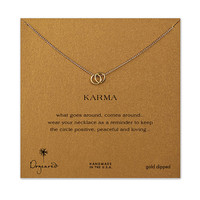 Dogeared Karma Linked Ring Necklace Sterling Silver - 18 Inch