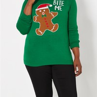 Plus Bite Me Ugly Christmas Sweater