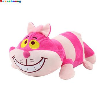 Hot 45CM Alice in Wonderland Cheshire cat plush cartoon doll toy cute cat soft stuffed lovely animal cotton doll toy for kids