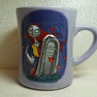 Sally Nightmare Before Christmas Disney Store Coffee Mug Raised 3D RIP Graveston
