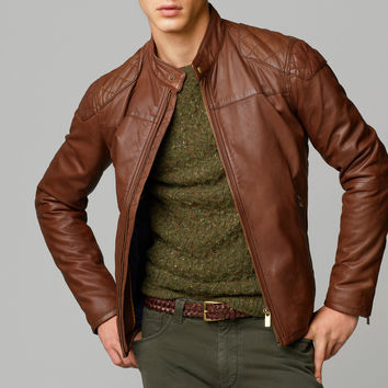 NAPPA LEATHER JACKET - New - MEN - United States of America / Estados Unidos de América