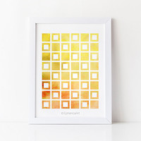 Printable art, Digital art download, Yellow art, Yellow decor, Modern prints, Wall print, Home decor Wall art, Geometric decor Bedroom decor