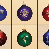 Game of Thrones Laser Engraved Christmas Ornaments - Set of 6