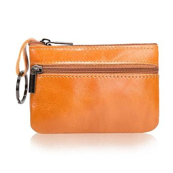 Genuine Leather Small Portable Coin Bag