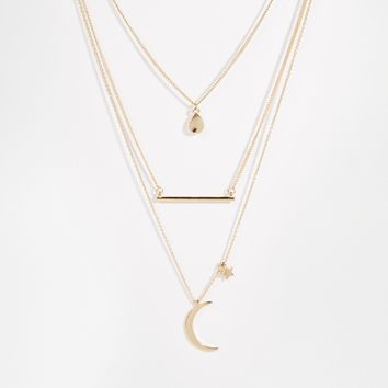 ASOS Eclectic Charm Multirow Necklace