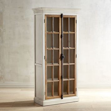 Cremone Antique White Tall Cabinet
