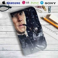 Sherlock The Abominable Bride Benedict Cumberbatch Leather Wallet iPhone 4/4S 5S/C 6/6S Plus 7| Samsung Galaxy S4 S5 S6 S7 NOTE 3 4 5| LG G2 G3 G4| MOTOROLA MOTO X X2 NEXUS 6| SONY Z3 Z4 MINI| HTC ONE X M7 M8 M9 CASE