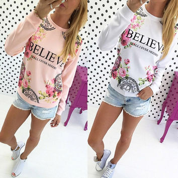 BELIEVE Print Top