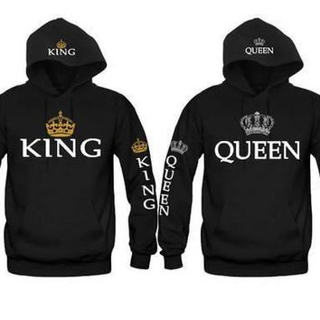 King and Queen FULLY LOADED Awesome Gift Unisex Couple Matching Hoodies