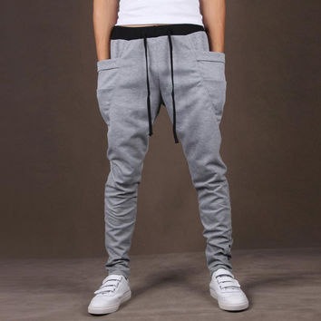 2017 Fashion Mens Boys Joggers Casual Men Pants Sweatpants Pockets Trousers Hip Hop Harem Pants