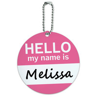 Melissa Hello My Name Is Round ID Card Luggage Tag
