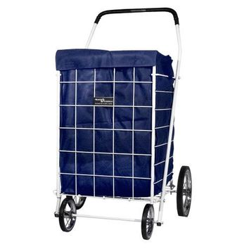1 X Cart Liner with Hood for Laundry & Shopping - Dark Blue