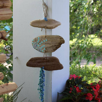 Bohemian Driftwood Wall hanging , Beach Decoration , Garden Decor