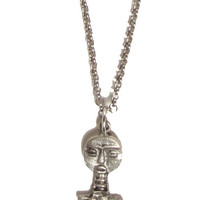 Eye of Ja Silver African Fertility Goddess Charm Necklace