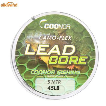 High Strength 45lb 5m Fishing Leadcore Camouflage Carp Braided Fishing Line Hair Rigs Lead Core Fish Tackle Accessory Promotions