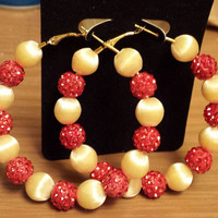 Formal Wedding and prom red and ivory design