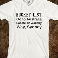 Supermarket: Australian Bucket List from Glamfoxx Shirts