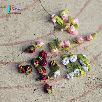 Home Fabric Clothing Accessories Skirts Decorative Handmade Doll Clothes Etc. Ribbons Small Flowers About 1cm 3cm Pink S672P