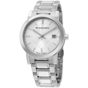 Burberry Large Check Stainless Steel Watch BU9000