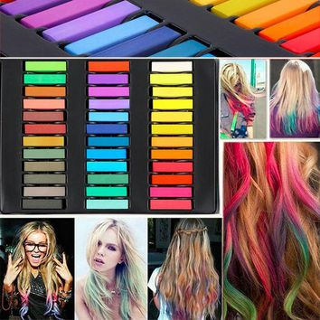 ICIK272 36 Colors Hair Dye Easy Temporary Colors Non-toxic Hair Chalk Soft Pastels Kit Hair Color Crayons for Hair
