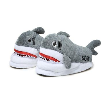 2018 Good Quality Shark Home Slippers