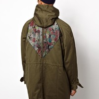 Reclaimed Vintage | Reclaimed Vintage Army Jacket With Back Floral Print at ASOS