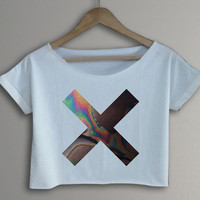XX Coexist Style Hipster Crop Top Crop Tee Black and White Women Tee Shirt - BX1