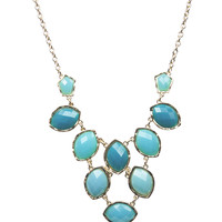 Ombre Faceted Stone Necklace   Wet Seal